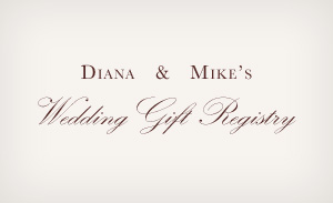 Wedding Registry Website